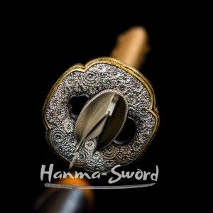 Hazuya Polished Clay Tempered Folded Blade Japanese samurai Katana sword#HM0057 - hanma-sword