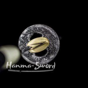 CLAY TEMPERED T-10 STEEL KOGARASU-MARU BLADE JAPANESE KATANA STEEL TSUBA SWORD #HM0022 - hanma-sword