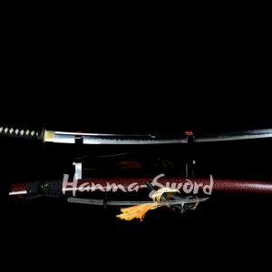 clay tempered t10 steel choji hamon Unokubi-Zukuri blade japanese samurai razor sharp katana #HM0024 - hanma-sword