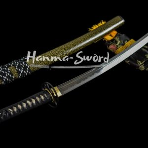 clay tempered Unokubi-Zukuri kobuse structure blade japanese wakizashi katana sword #HM0026 - hanma-sword