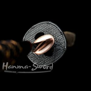 clay tempered choji hamon blade japanese samurai wakizashi full tang sword #HM0006 - hanma-sword